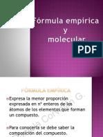 V. FÓRMULA EMPIRICA Y MOLECULAR