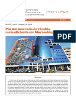 Por Um Mercado de Cambio- Mais Eficiente Em Mocambique
