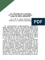 Kniazeff Lecture de l'Ancien Et Du Nouveau Testament Dans Le Rite Byzantin in Botte & Cassien Priere Des Heures 1963-3