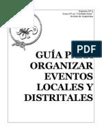 GUIA PARA ORGANIZAR EVENTOS DISTRITALES-VERSION 1
