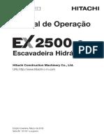 Hitachi EX2500-6 Manual de Operação