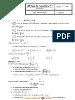 Devoir de Contrôle N°1 - Math - 3ème Math (2011-2012) Mr mosrati chawki