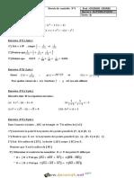 Devoir de Contrôle N°1 - Math - 2ème Sciences (2017-2018) Mr Ouerghi chokri