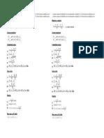 Fórmulas psicometría