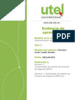 evaluacion de desempeño semana 1 y 2 sistematizacion de procesos CORREGIDO  cuellar estrada francisco javier
