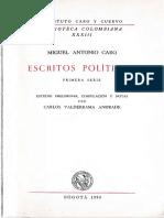 La escuela liberal - Miguel Antonio Caro