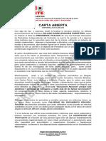 Carta Abierta de Humberto Mercado