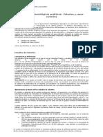 Estudios analíticos de Cohortes y Casos y Controles