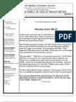 Mount Bethel Christian Newsletter April 2011 Newsletter Doc.doc Vol 31, Issue 2