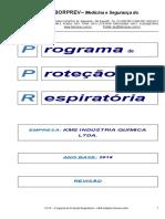 PPR 2018 PROGRAMA DE PROTEÇÃO RESPIRATÓRIA - KMS IDÚSTRIA QUÍMICA LTDA