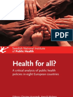 Health for All? Critical Analysis of Public Health Policies in Europe
