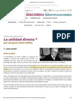 La Utilidad Directa _ XXVII Jornadas Anuales de La EOL JA Miller