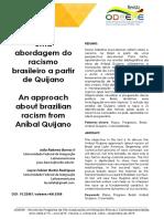 racismo brasileiro a partir de Quijano