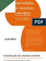 Classificação e Propriedades Dos Sistemas Coloidais