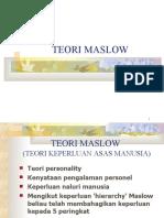 TEORI MASLOW latest