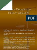 Régimen Disciplinario, Faltas y Sanciones