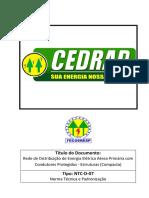 NTC D 07 - Rede de Distribuição de Energia Elétrica Aérea Primária Com Condutores Protegidos - Estruturas (Compacta)