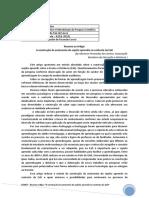 Resumo Artigo A construção da autonomia do sujeito aprendiz no contexto da EaD