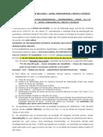 CONVOCAÇÃO N° 003 - NÍVEL FUNDAMENTAL MÉDIO E TÉCNICO
