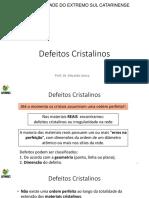Aula4_Defeitos_Cristalinos