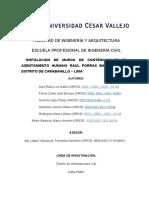 INSTALACION DE MUROS DE CONTENCION EN EL ASENTAMIENTO HUMANO RAUL PORRAS BARRENECHEA- GRUPO 5