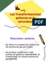 4. Las transformaciones químicas en la naturaleza