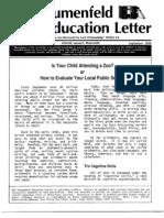 The Blumenfeld Education LetterSeptember 1989