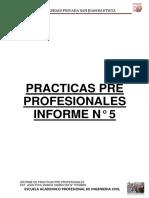 9.- Quinto Informe de Practicas Pre-profesionales