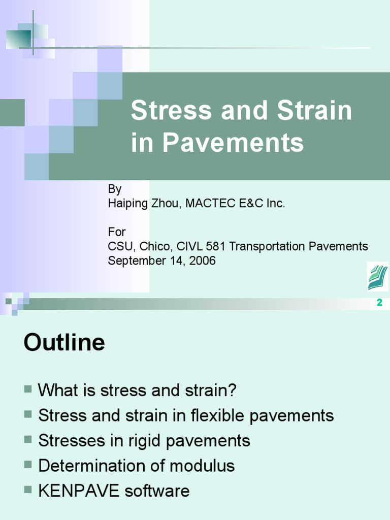 Stress Strain In Pavements Young S Modulus Elasticity Physics