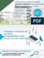 ENFOQUE INTEGRAL DE GESTION DE HIPERMERCADOS PLAZA VEA HUACHO 2021