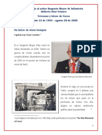 Homenaje al Sargento Mayor de Infantería Gilberto Díaz Velasco, Veterano de Corea
