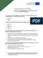 CHESTIONAR DE APRECIERE A ACTIVITATILOR PARINTI