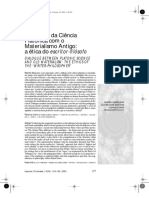 Diálogo de la ciencia, platón y el materialismo antiguo