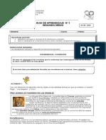 Guía 3 Lenguaje Coherencia Segundo Medio