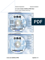 Ejercicio2_Conocer como instalar CADWorxPIPE Plant