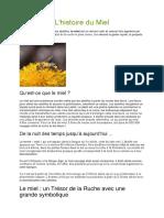 L'histoire du miel