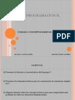 I UNIDAD PROGRAMACIÓN II