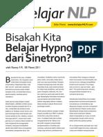 Newsletter RFR - Belajar Hypnosis Dari Sinetron