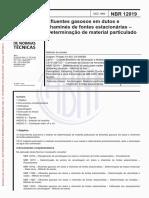Efluentes gasosos em dutos e chaminés de fontes estacionárias - Determinação de material particulado - Método de ensaio
