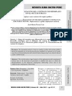 La Desnaturalización Del Contrato de Reemplazo en El Sector Público - Autor José María Pacori Cari