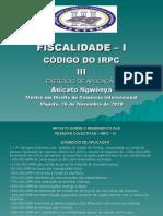 CODIGO DO  IRPC III -  2020 2S