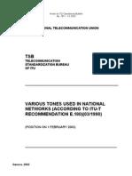Configuracion Tonos ITU