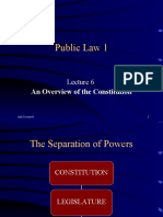 PUBLIC LAW LECTURE 6 OVERVIEW OF THE CONSTITUTION
