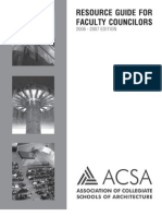 ACSA Resource Guide For Faculty Councilors 2006-07