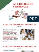 CARGAS Y DEUDAS DE LA HERENCIA