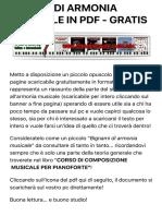 PILLOLE DI ARMONIA MUSICALE IN PDF - GRATIS - CORSO GRATUITO ON-LINE DI TEORIA MUSICALE ED ARMONIA P