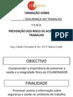 PREVENÇÃO DOS RISCO DE ACIDENTES DE TRABALHO - ECOFIRMA