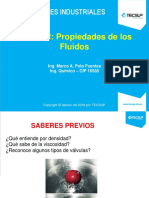 SESION 2_PROPIEDADES DE LOS FLUIDOS_ACCESORIOS Y TUBERÍAS_2018_I