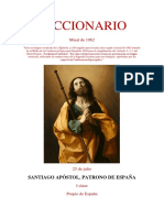 25 de Julio. Santiago Apostol, Patrono de España. Epístola y Evangelio