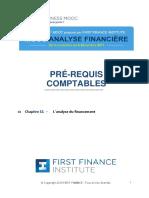Chapitre 11 L'analyse du financement